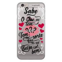 Capa para celular - Sorte Que Cê Beija Bem