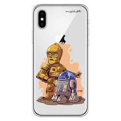 Capa para celular - Star Wars | R2D2 e C3PO