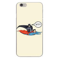 Capa para Celular - Super Man e Batman WTF