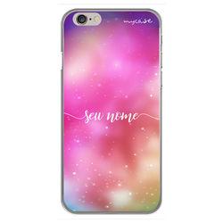 Capa para celular - Universo rosa | Com nome manuscrito