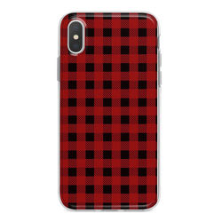 Capa para celular - Xadrez Vermelho