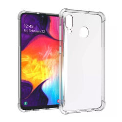 Capa para Galaxy A20 de TPU Anti Shock - Transparente