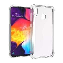 Capa para Galaxy A20s de TPU Anti Shock - Transparente