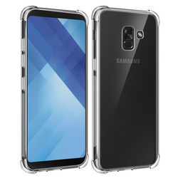 Capa para Galaxy A8 2018 de TPU Anti Shock - Transparente