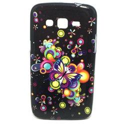 Capa para Galaxy Gran 2 Duos G7102 de TPU com Strass - Borboletas