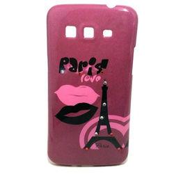 Capa para Galaxy Gran 2 Duos G7102 de TPU com Strass - Paris Love
