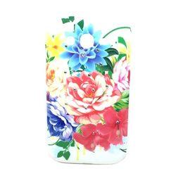 Capa para Galaxy Gran Duos i9082 de TPU com Strass - Flores Coloridas