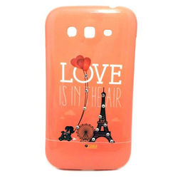 Capa para Galaxy Gran Duos i9082 de TPU com Strass - Love Is In The Air