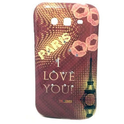 Capa para Galaxy Gran Duos i9082 de TPU com Strass - Paris I Love You