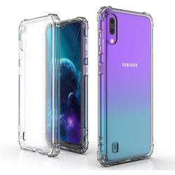 Capa para Galaxy M10 de TPU Anti Shock - Transparente