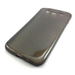 Capa para Galaxy Mega 5.8 Duos i9152 de TPU - Preto Transparente
