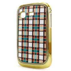 Capa para Galaxy Pocket S5300 de Plástico Brilhante - Xadrez