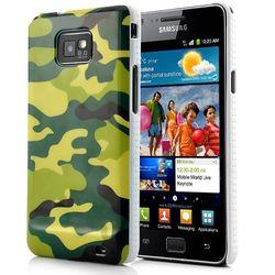 Capa para Galaxy S2 i9100 de Plástico - Camuflagem