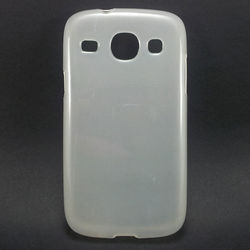 Capa para Galaxy S3 Duos i8262 de TPU - Branco Transparente