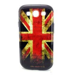 Capa para Galaxy S3 i9300 de TPU com Estampa em Plástico - Inglaterra