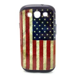Capa para Galaxy S3 i9300 de TPU com Estampa em Plástico - USA