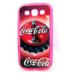 Capa para Galaxy S3 i9300 de TPU Rosa - Coca Cola