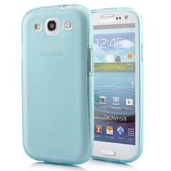 Capa para Galaxy S3 i9300 de TPU Ultra Fina - Azul Transparente