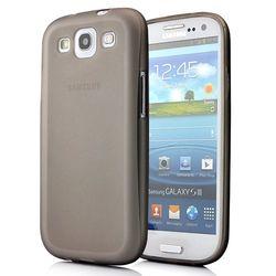 Capa para Galaxy S3 i9300 de TPU Ultra Fina - Cinza Transparente