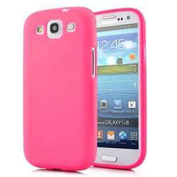 Capa para Galaxy S3 i9300 de TPU Ultra Fina - Magenta Transparente
