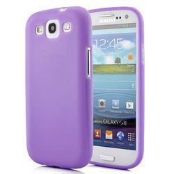 Capa para Galaxy S3 i9300 de TPU Ultra Fina - Roxo Transparente