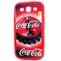 Capa para Galaxy S3 i9300 de TPU Vermelho - Coca Cola Tampa