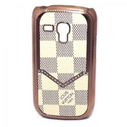 Capa para Galaxy S3 Mini i8190 de Luxo - Louis Vuitton Xadrez Bege