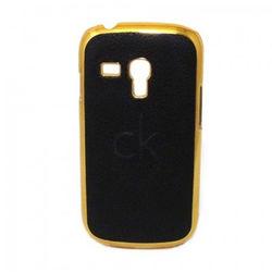Capa para Galaxy S3 Mini i8190 de Plástico com Borda Dourada - Calvin Klein