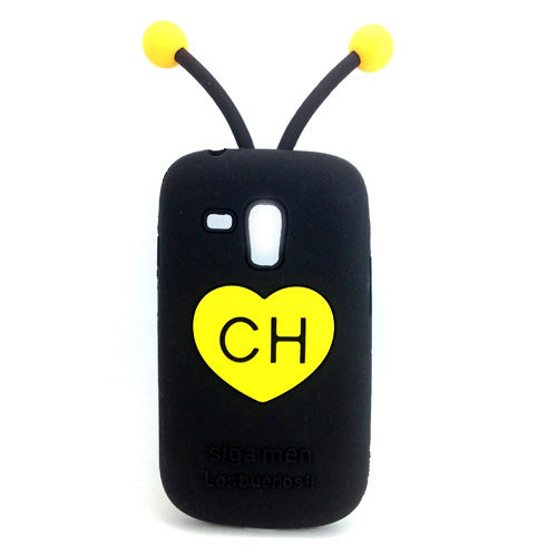 Capa para Galaxy S3 Mini i8190 de Silicone 3D - Chapolin Colorado Preto
