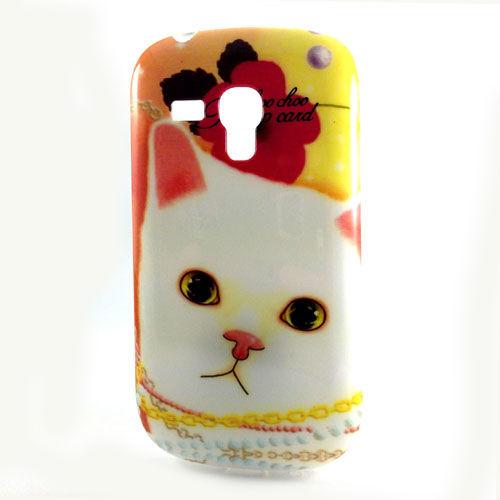 Capa para Galaxy S3 Mini i8190 de TPU - Gatinho 2