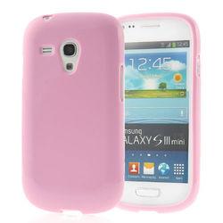 Capa para Galaxy S3 Mini i8190 de TPU - Rosa