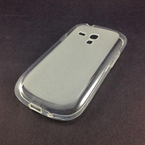 Capa para Galaxy S3 Mini i8190 de TPU - Transparente Fosco