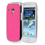 Capa para Galaxy S3 Mini i8190 Love Heart com Strass Brilhante - Rosa