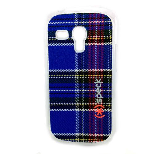 Imagem de Capa para Galaxy S3 Mini i8190 Speck Tecido Xadrez - Azul