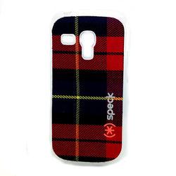 Capa para Galaxy S3 Mini i8190 Speck Tecido Xadrez - Vermelho