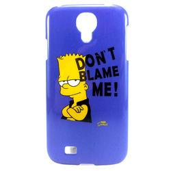 """Capa para Galaxy S4 i9500 de Plástico - Bart Simpsom """"Dont Blame Me"""""""