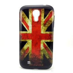 Capa para Galaxy S4 i9500 de TPU com Estampa em Plástico - Inglaterra