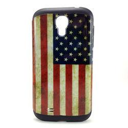 Capa para Galaxy S4 i9500 de TPU com Estampa em Plástico - USA
