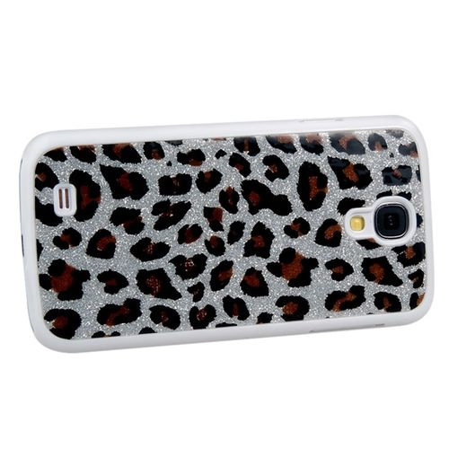 Capa para Galaxy S4 i9500 Leopardo - Prata