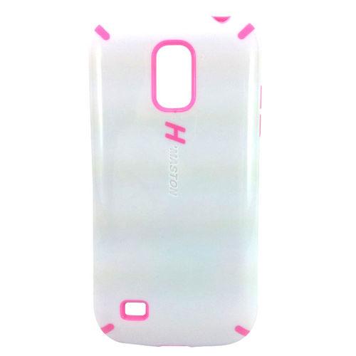 Imagem de Capa para Galaxy S4 Mini i9190 Anti Shock H Maston - Branca com Rosa