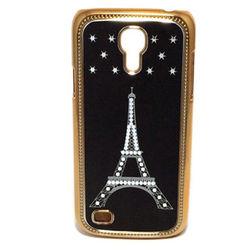 Capa para Galaxy S4 Mini i9190 Cromada - Torre Eiffel Preto com Dourado