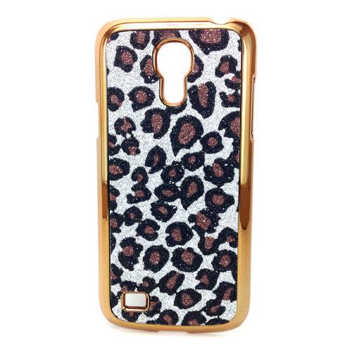 Imagem de Capa para Galaxy S4 Mini i9190 de Plástico com Glitter - Leopardo Prata