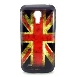 Capa para Galaxy S4 Mini i9190 de TPU com Estampa em Plástico - Inglaterra