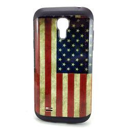 Capa para Galaxy S4 Mini i9190 de TPU com Estampa em Plástico - USA