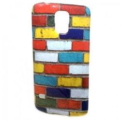 Capa para Galaxy S5 i9600 de TPU com Glitter - Tijolos