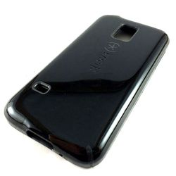 Capa para Galaxy S5 Mini G800 de de TPU Anti Shock - Preto com Cinza