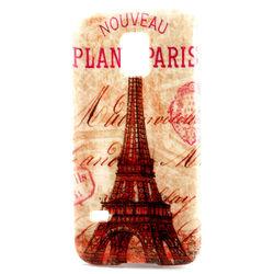 Capa para Galaxy S5 Mini G800 de TPU - Torre Eiffel