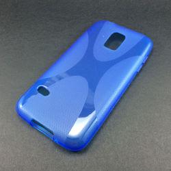 Capa para Galaxy S5 Mini G800 de TPU - X Azul