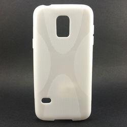 Capa para Galaxy S5 Mini G800 de TPU - X Branca
