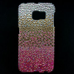 Capa para Galaxy S6 Edge G925 de TPU com Strass - Colorida 1